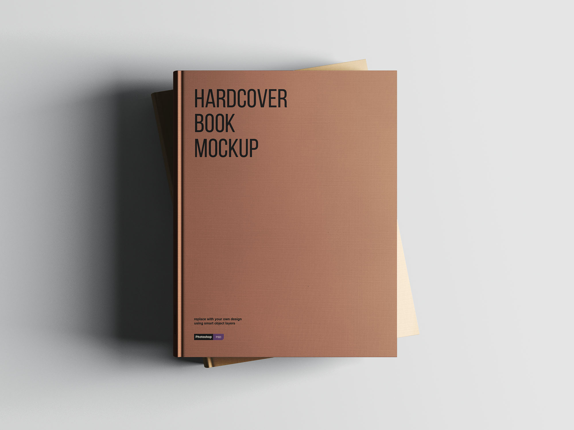 Hardcover A4 Book Mockup 04