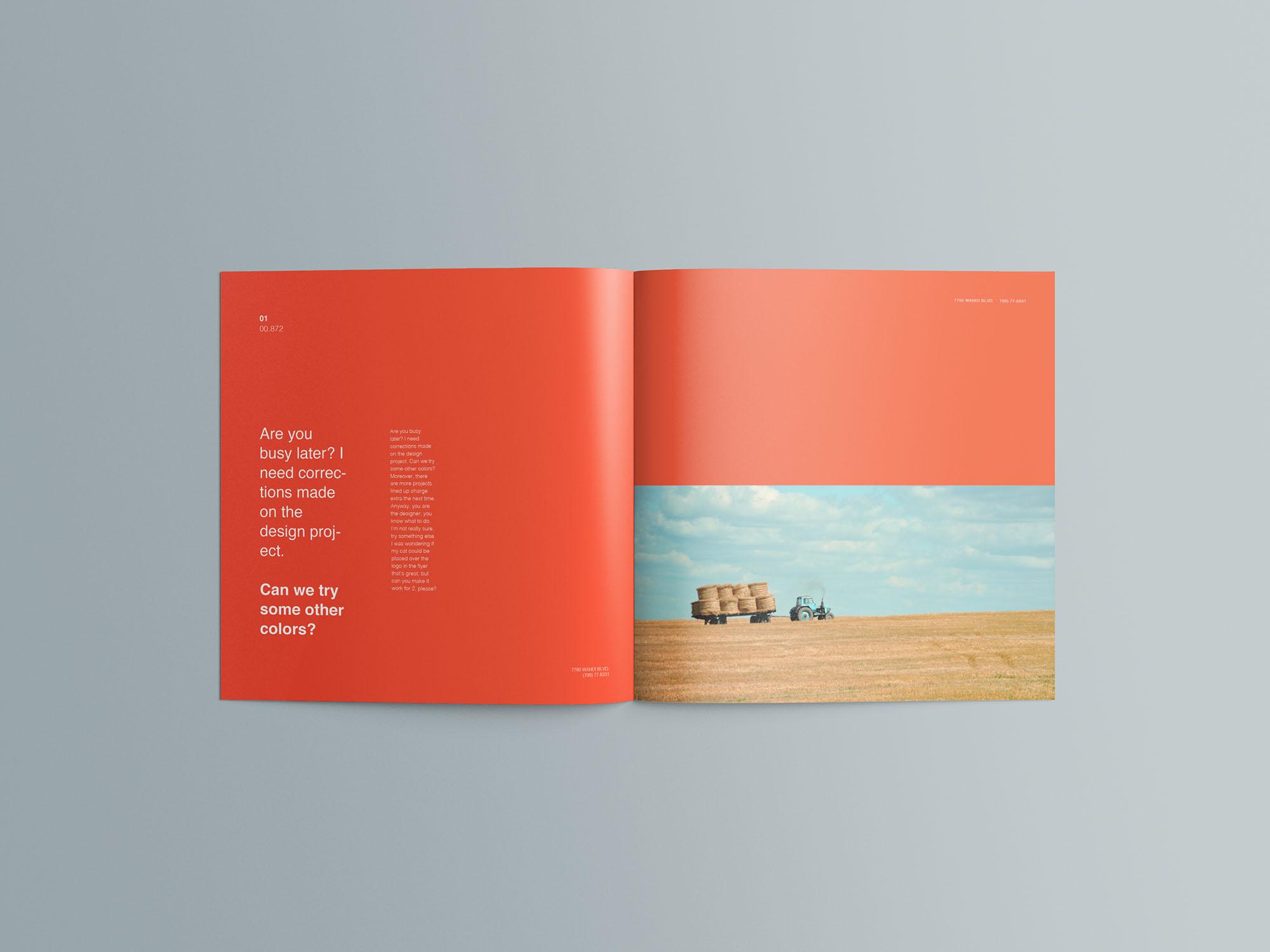 Square Brochure Mockup 05