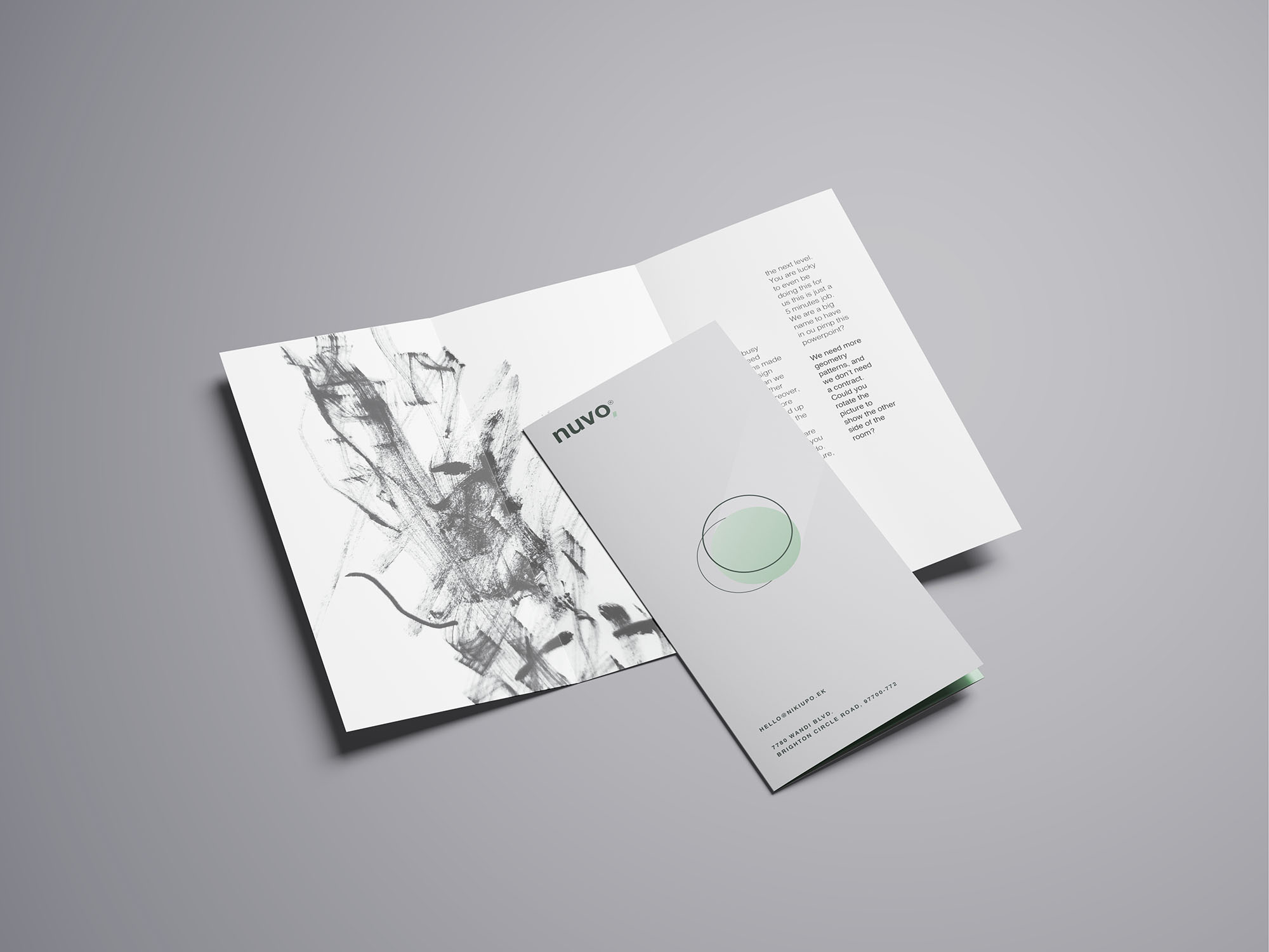 Trifold Brochure Mockup 05