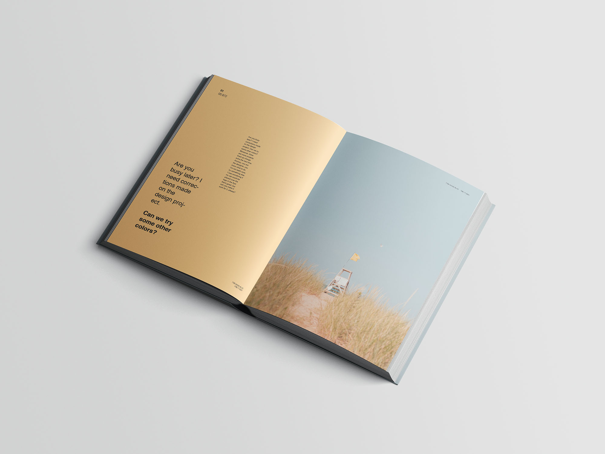 Hardcover A4 Book Mockup 06