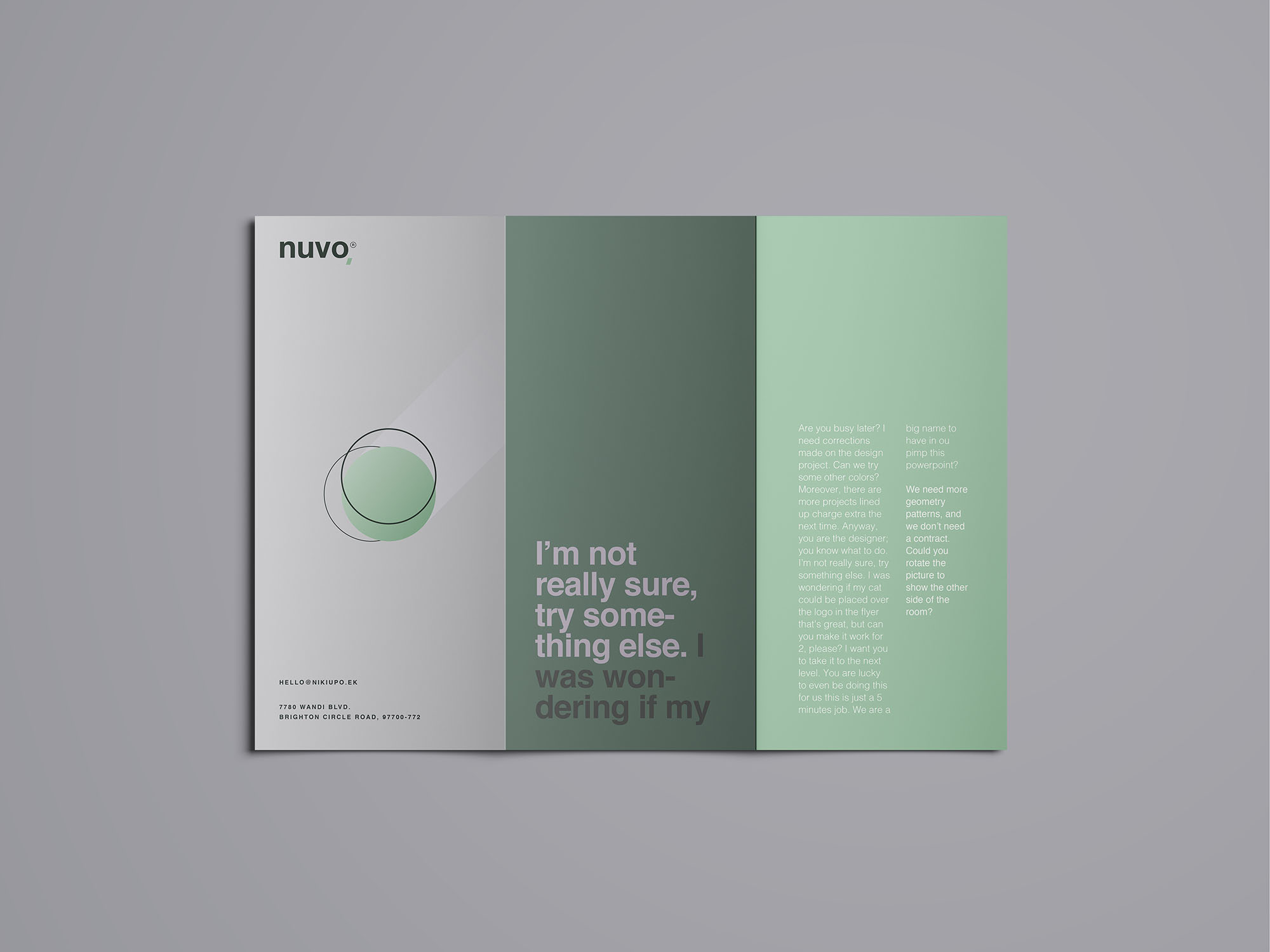 Trifold Brochure Mockup 06