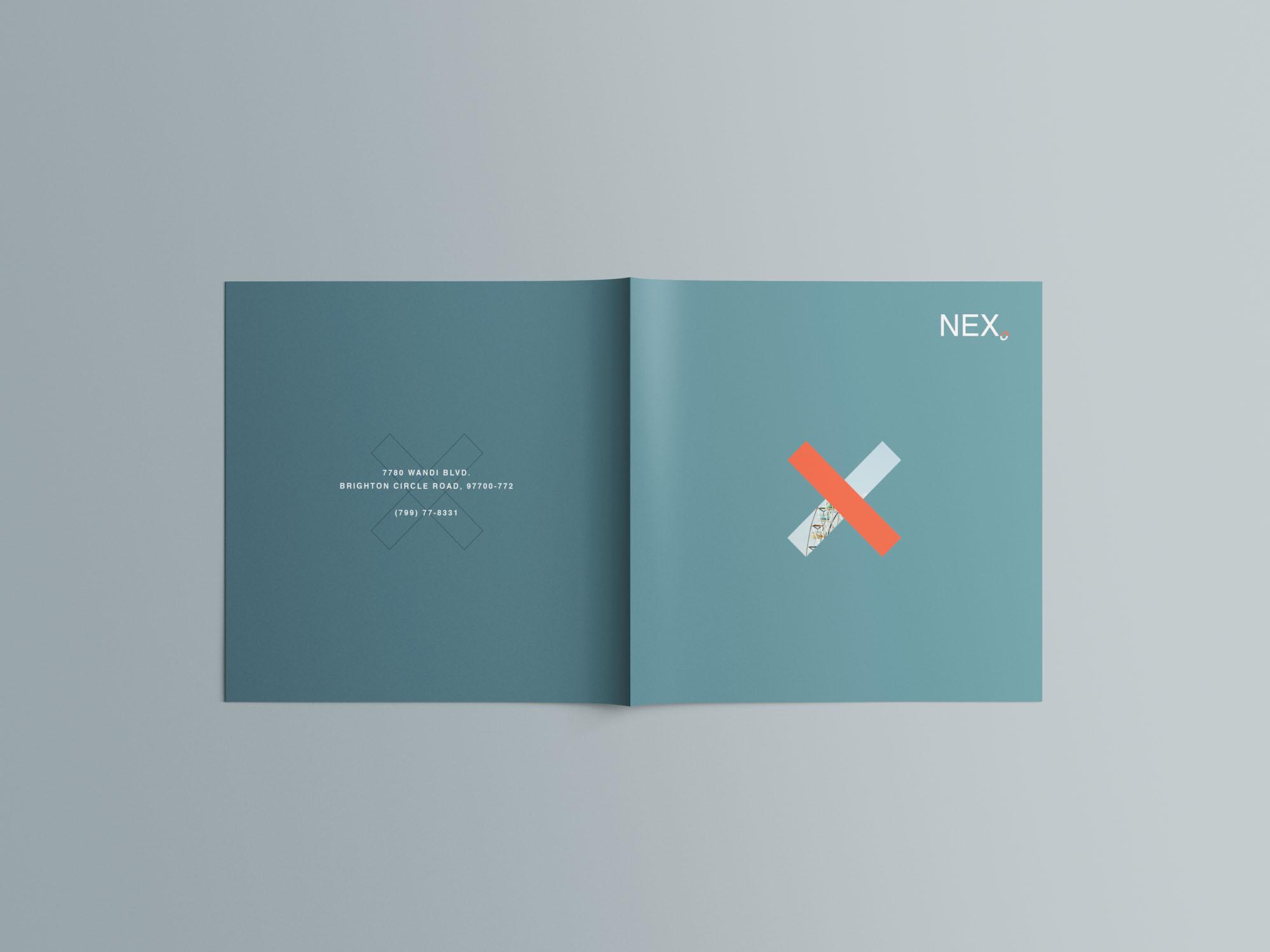Square Brochure Mockup 07