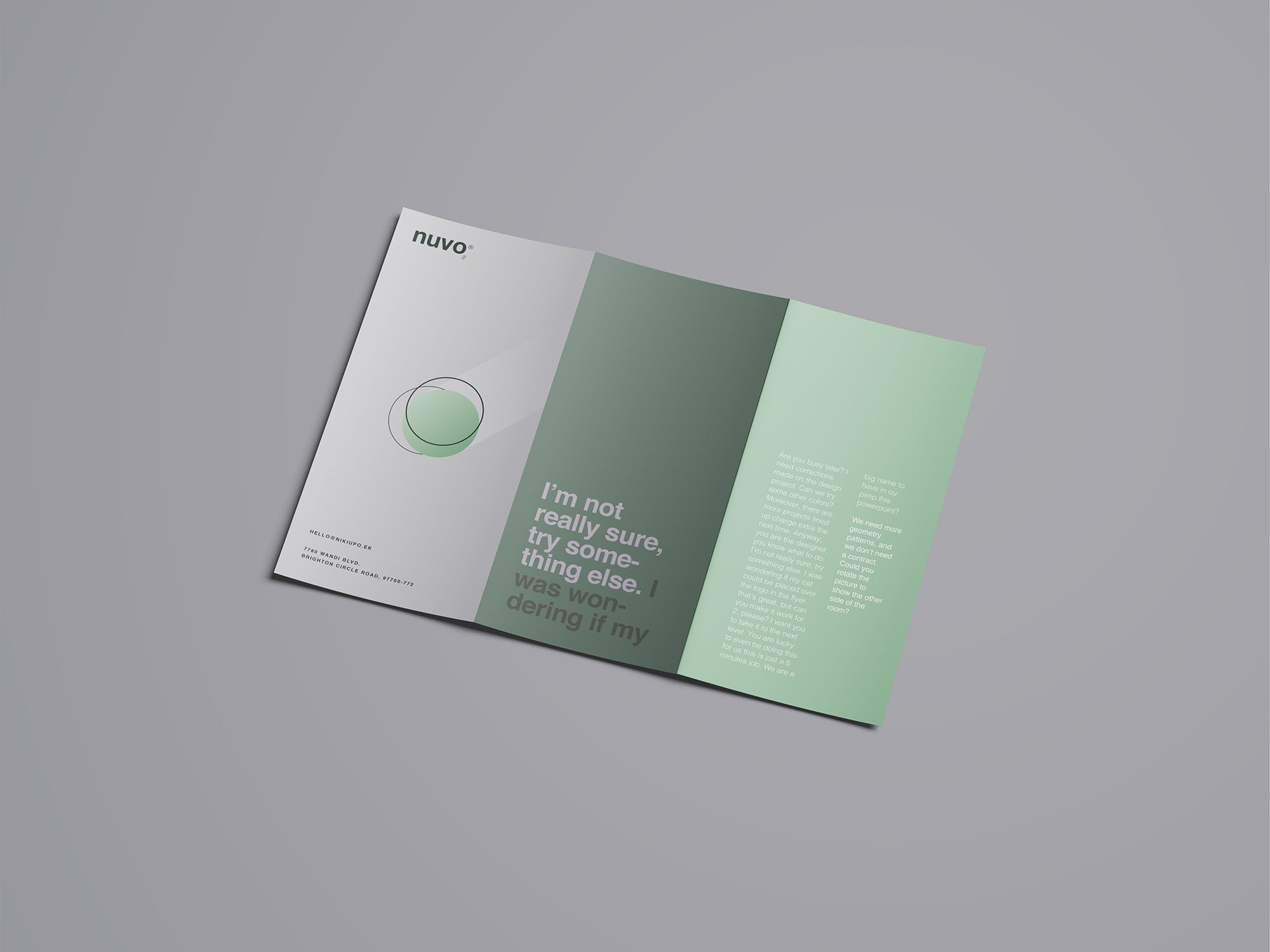 Trifold Brochure Mockup 07