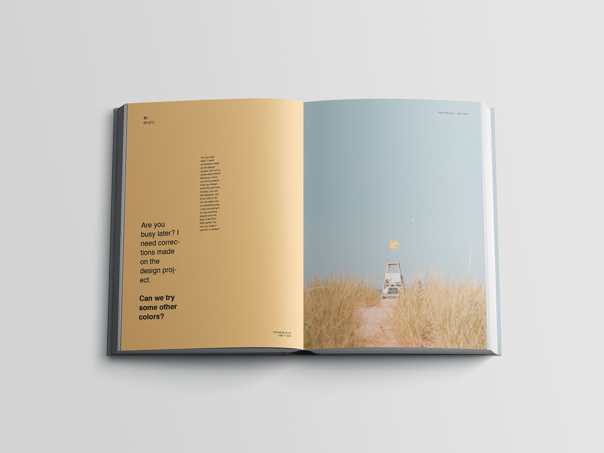 Hardcover A4 Book Mockup 08