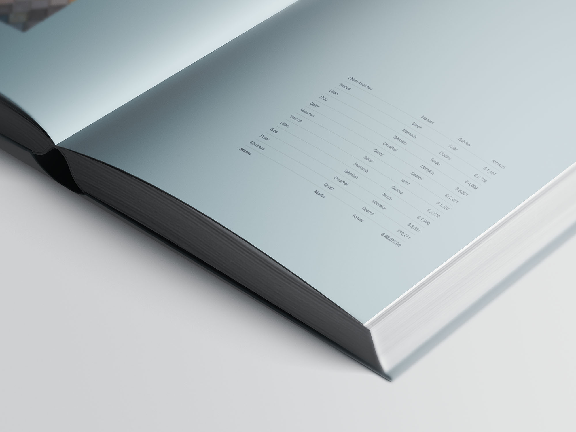 Hardcover A4 Book Mockup 09