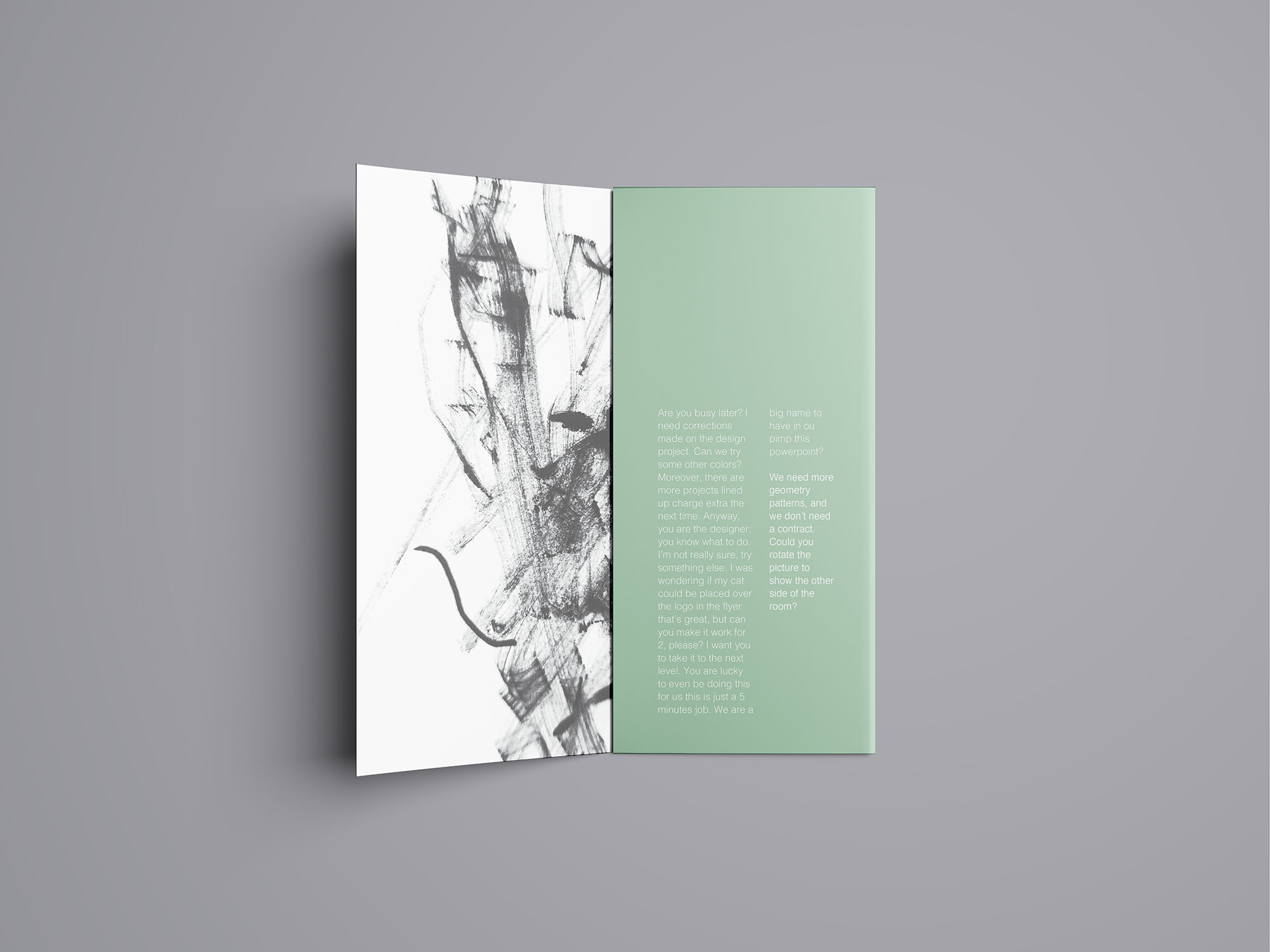 Trifold Brochure Mockup 09