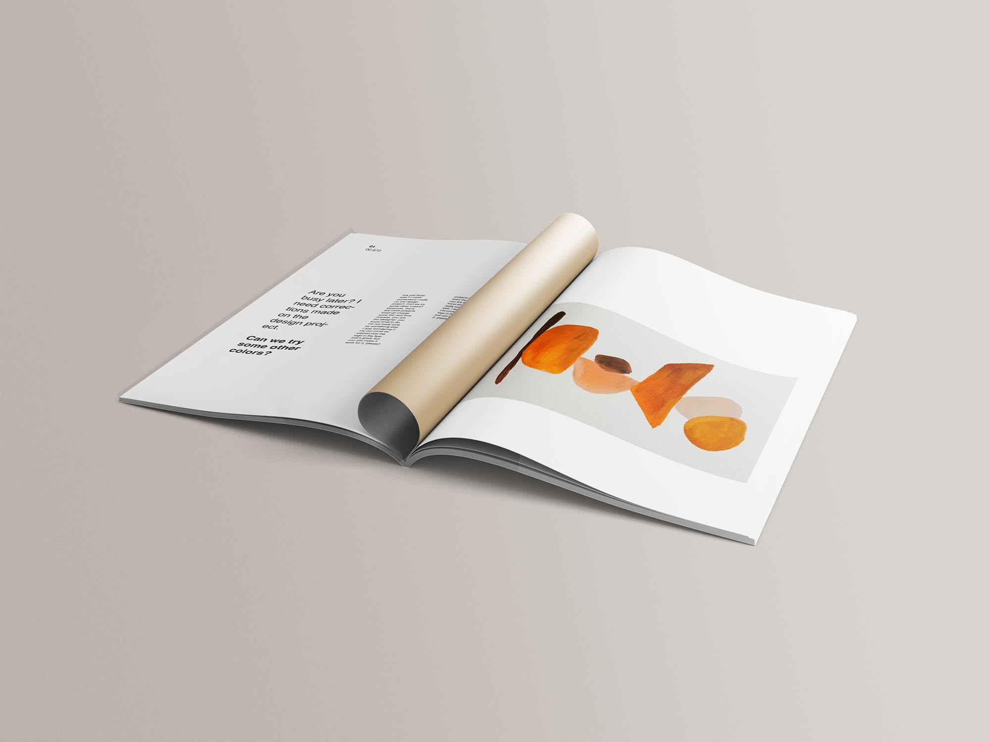 A4 Magazine Mockup 10