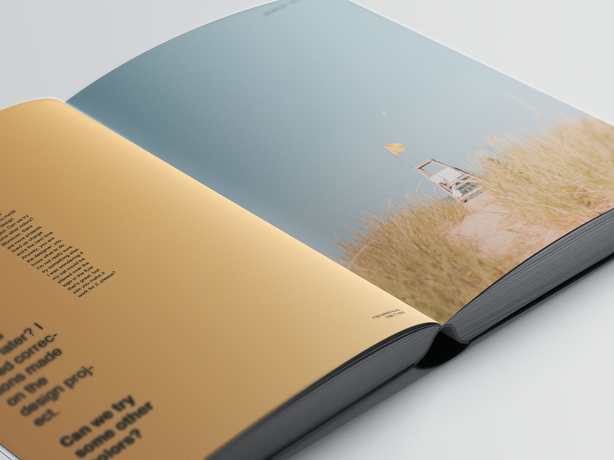 Hardcover A4 Book Mockup 10