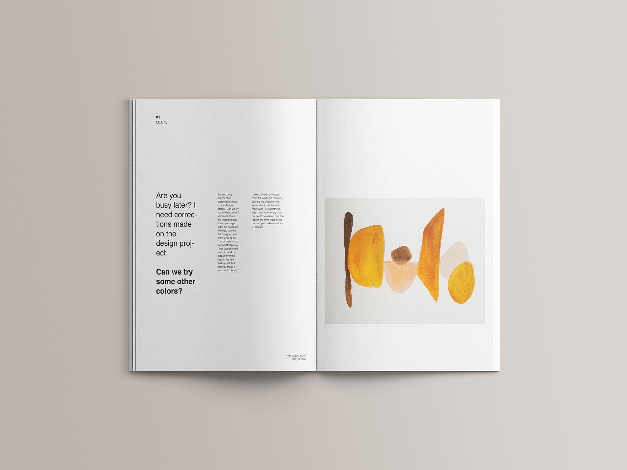 A4 Magazine Mockup 15