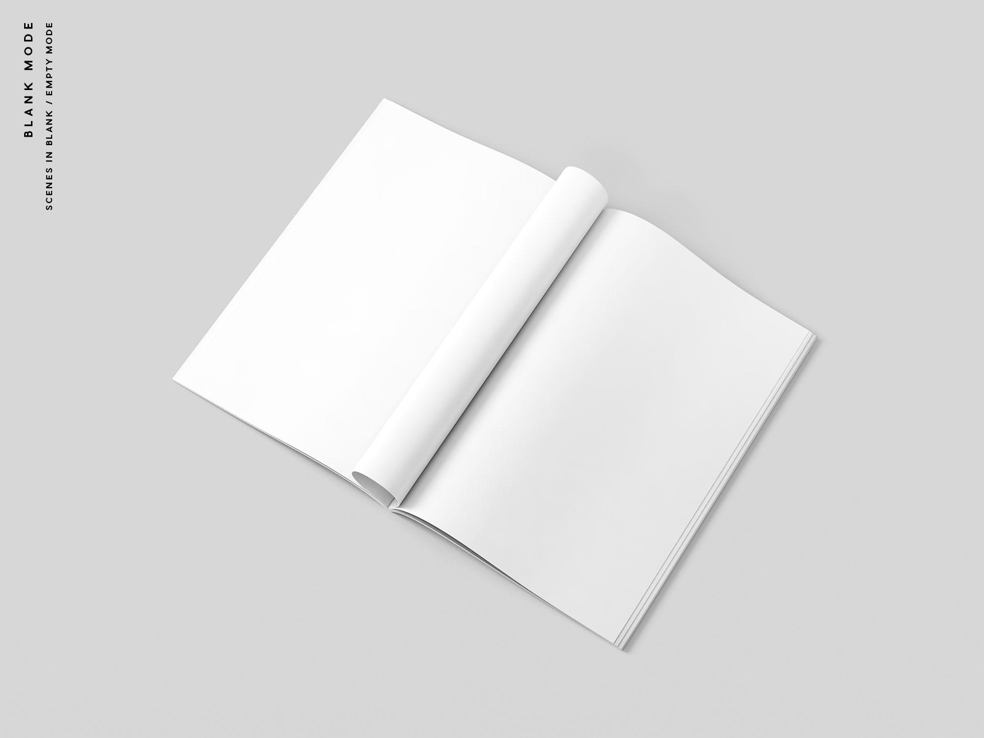 A4 Magazine Mockups Blank Mode