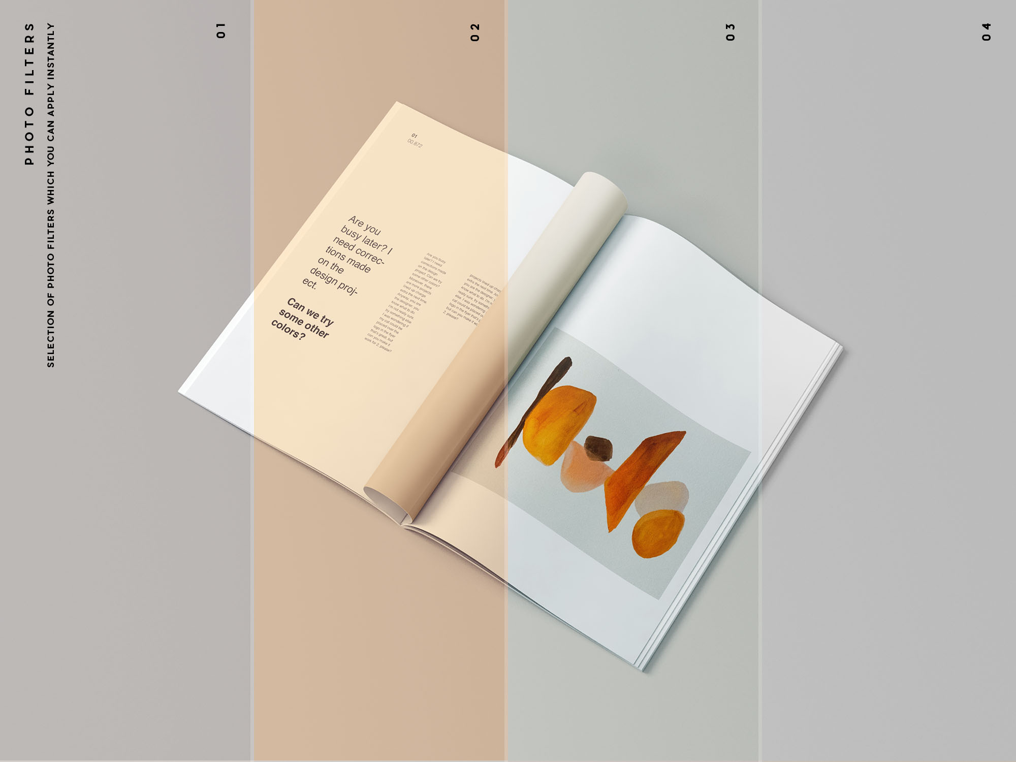 A4 Magazine Mockups Filters
