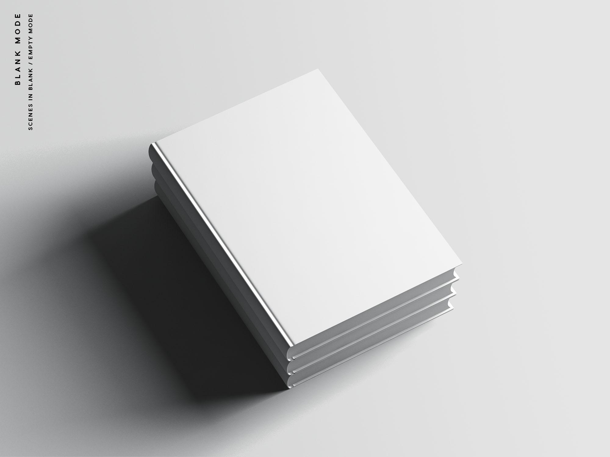 Hardcover A4 Book Mockup Blank Mode