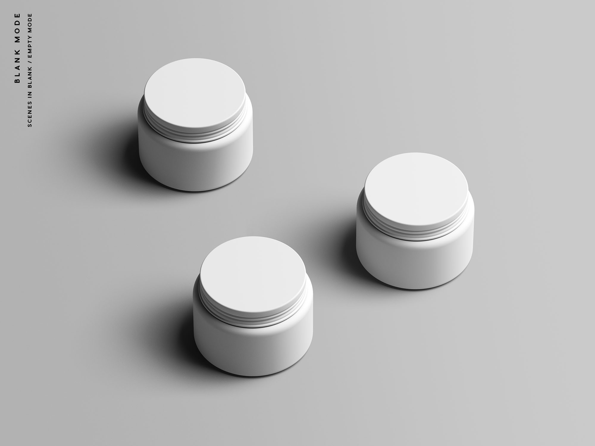 Cosmetic Jar Mockup - Blank Mode