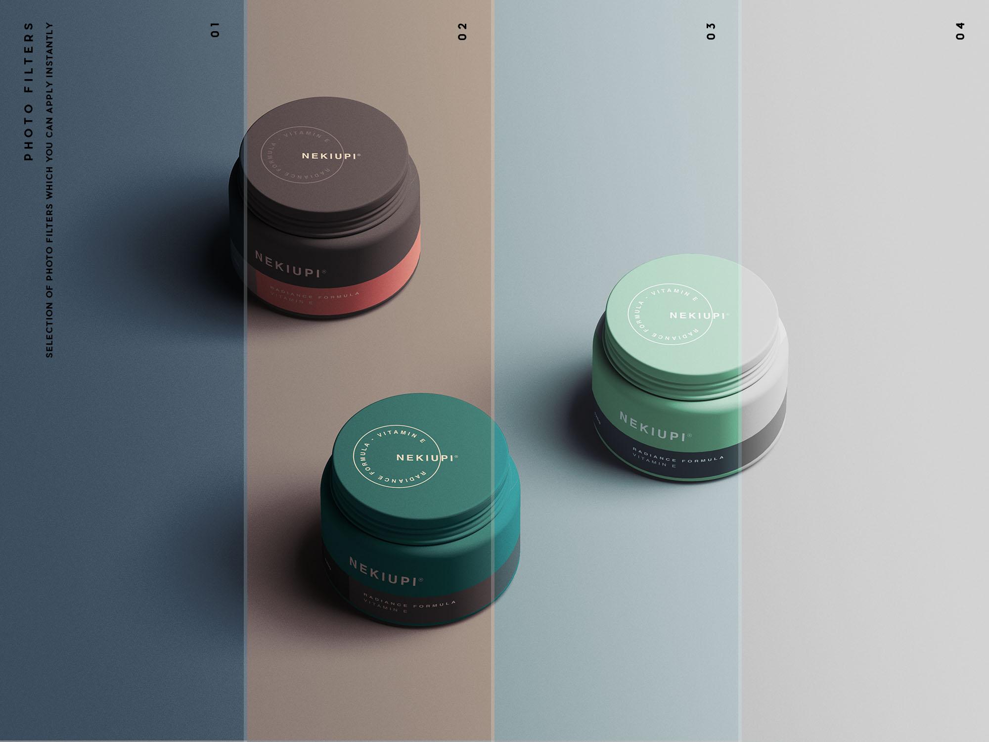 Cosmetic Jar Mockup Filters
