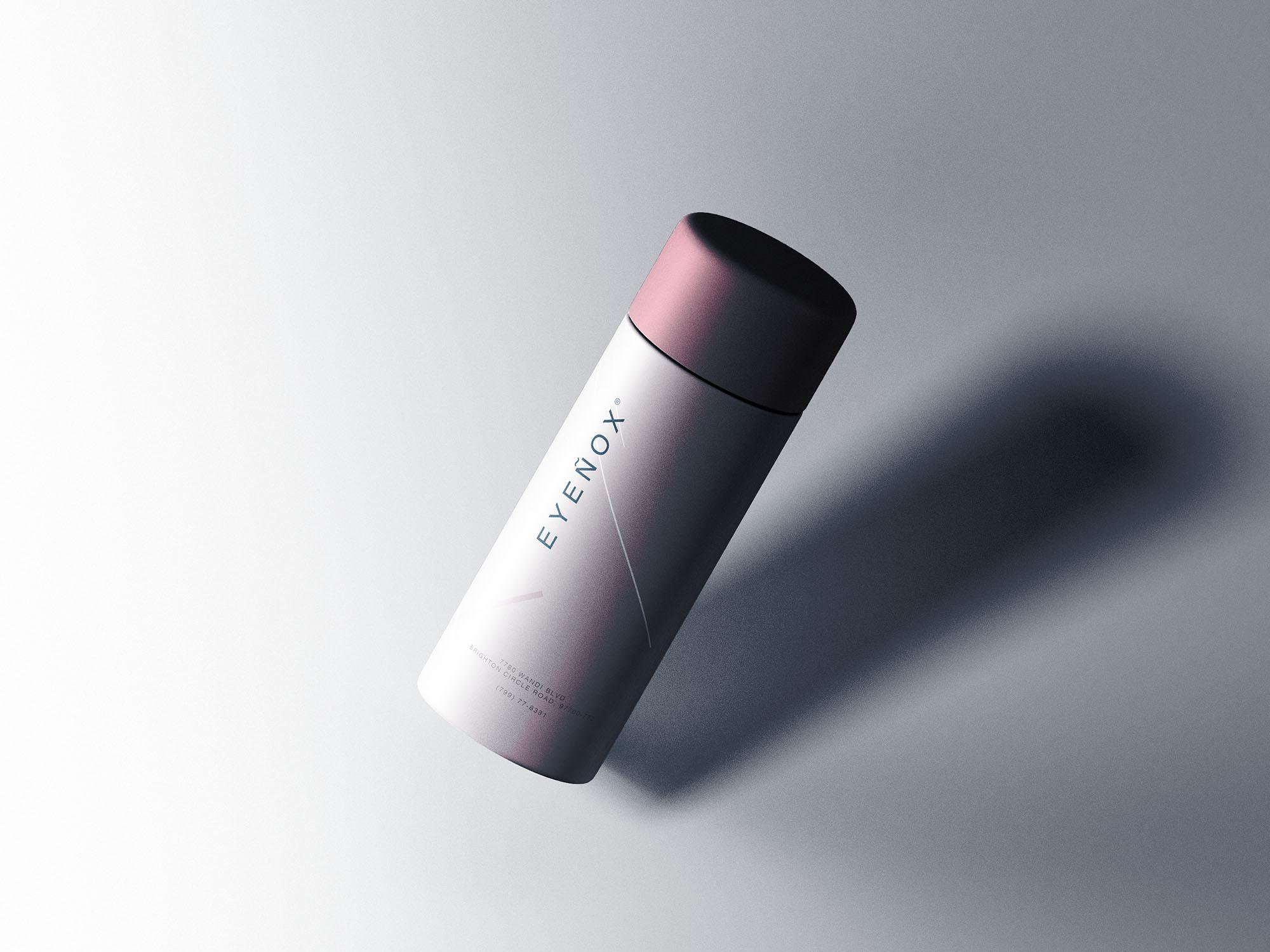 Cylinder Packaging Mockup