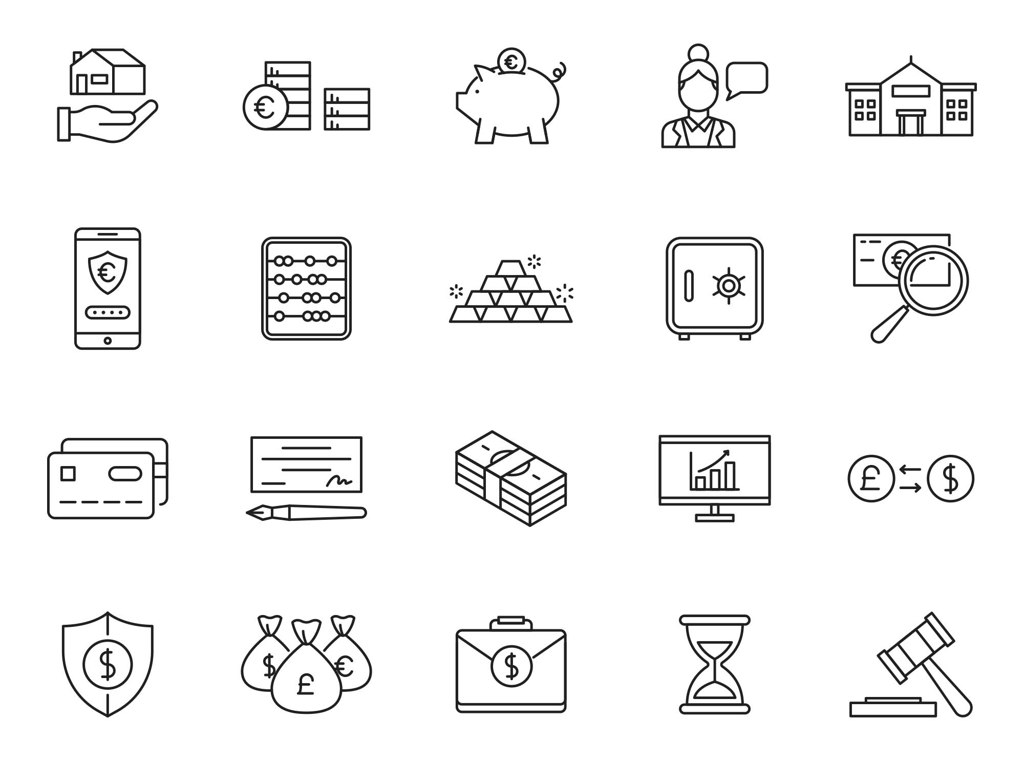 Finance Vector Icons Part 03