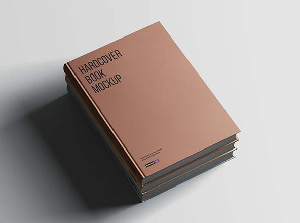 Hardcover A4 Book Mockup