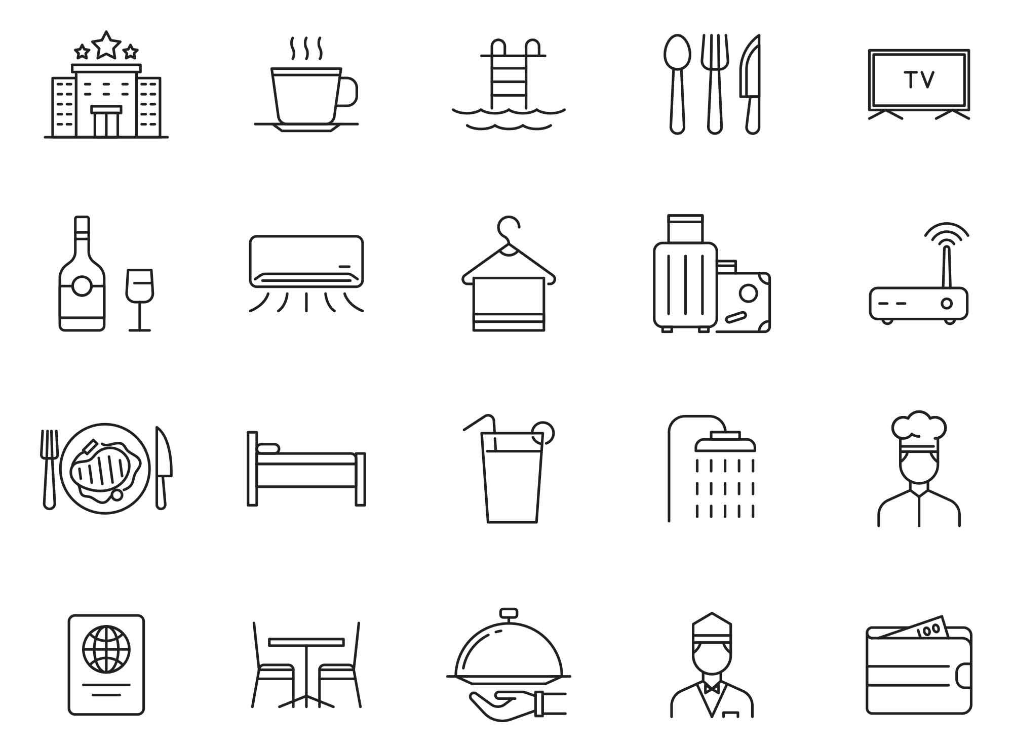 Hotel & Restaurant Icons 04