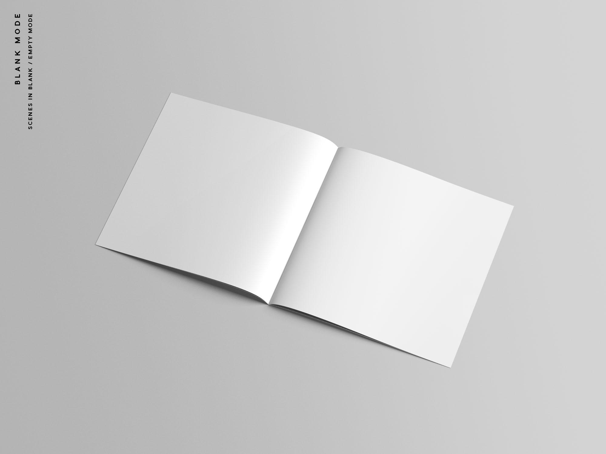 Square Brochure Mockup - Blank Mode