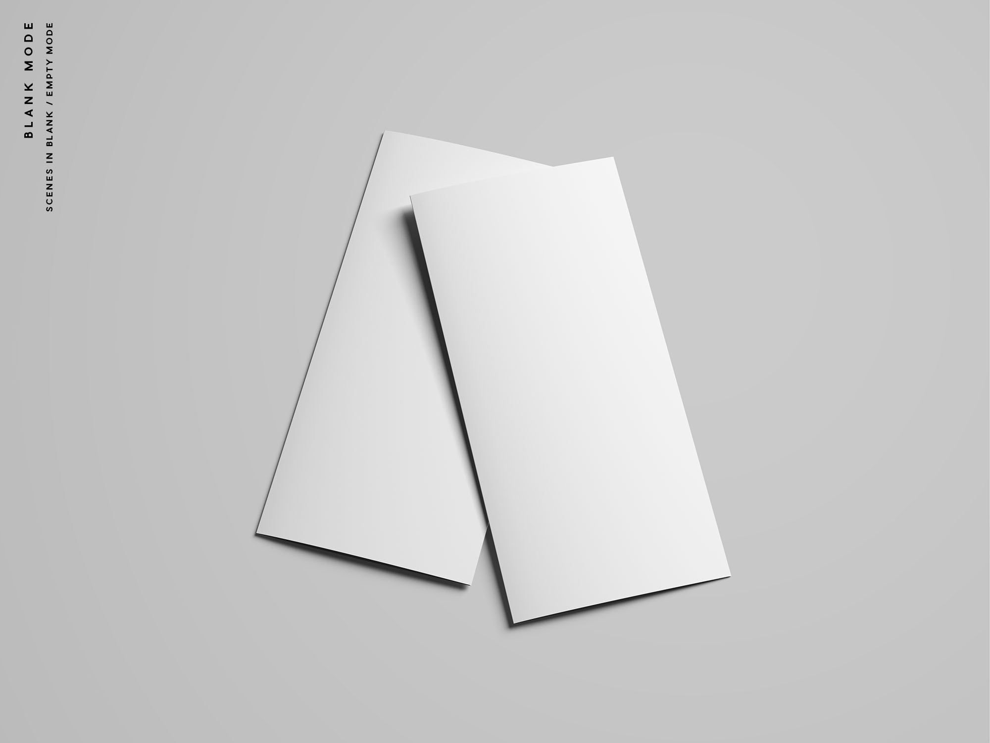 Trifold Brochure Mockup - Blank Mode