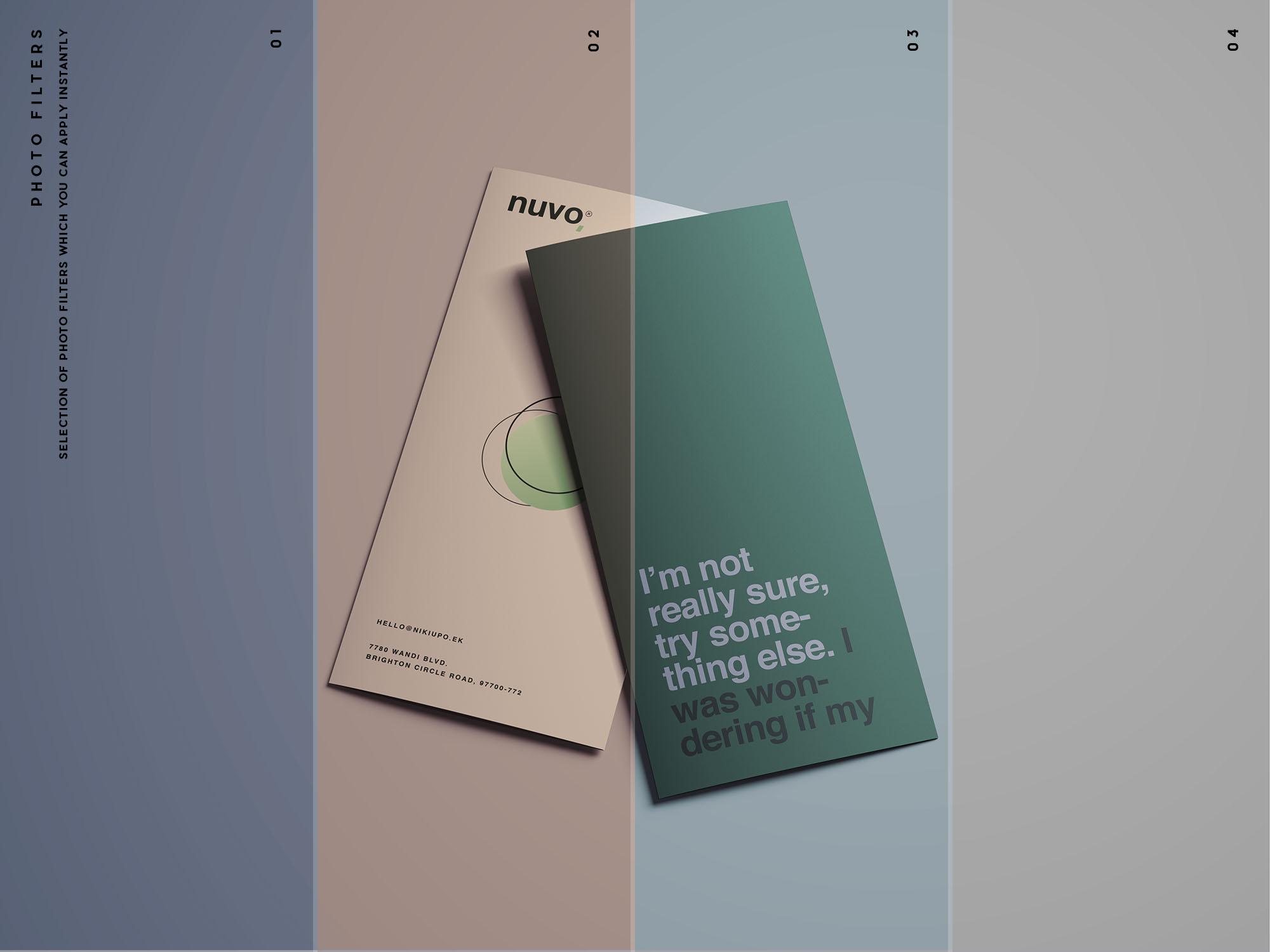 Trifold Brochure Mockup Filters