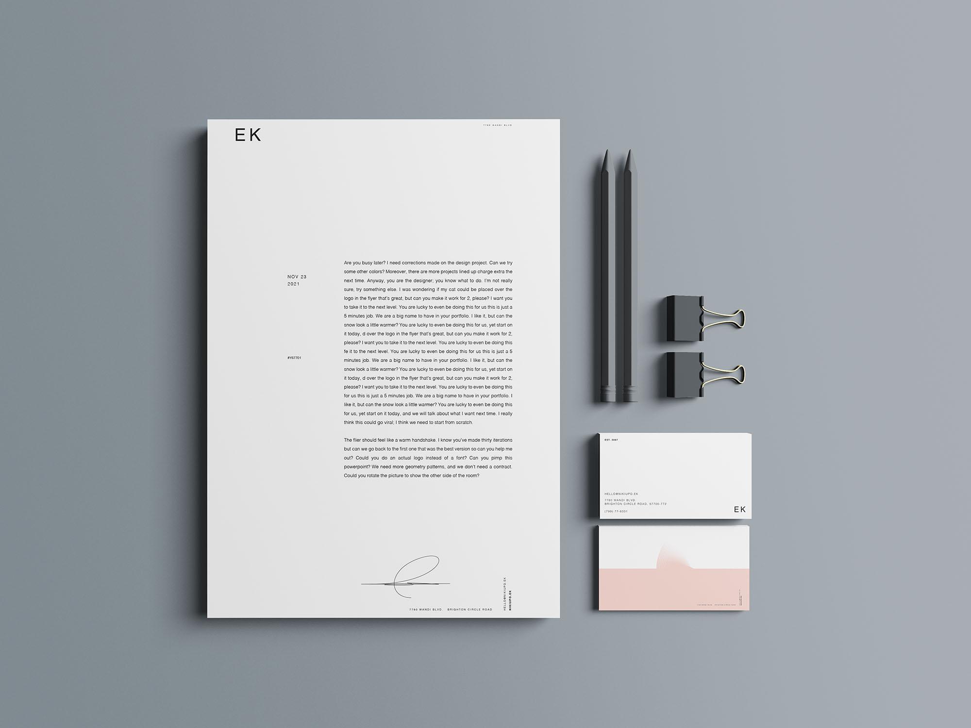 Stationery Branding Mockup 03
