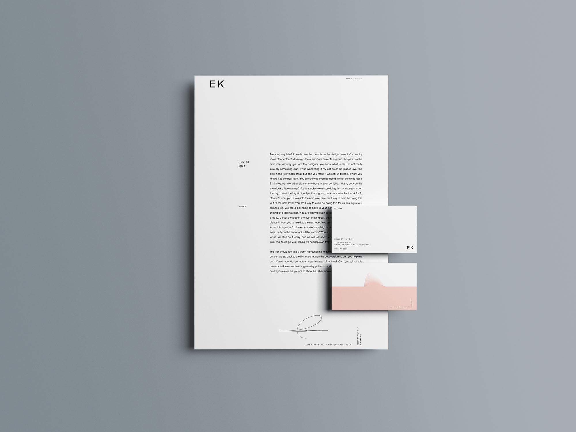 Stationery Branding Mockup 11