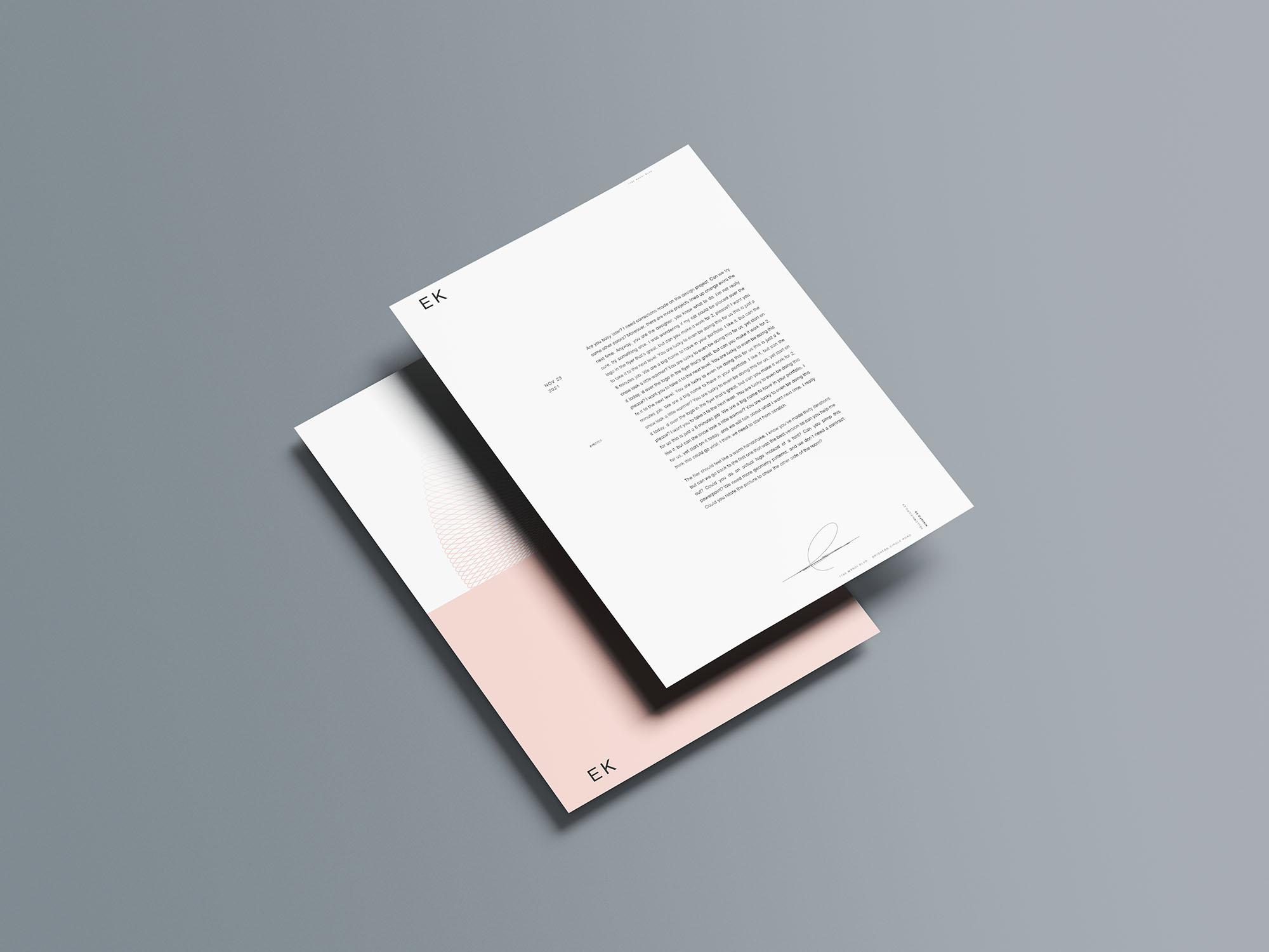 Stationery Branding Mockup 13