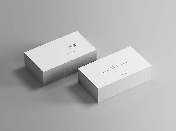 Isometric Business Card Mockup