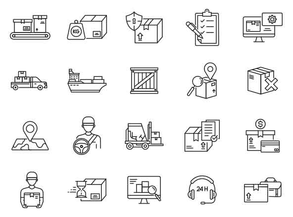 Logistic Vector Icons Part 02
