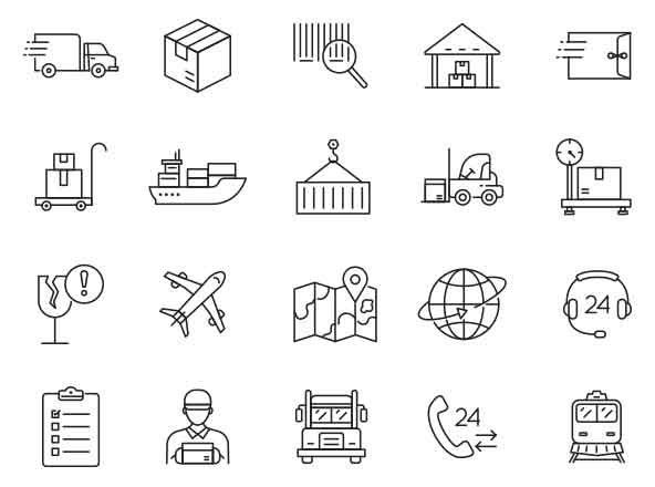 Logistic Vector Icons Part 03