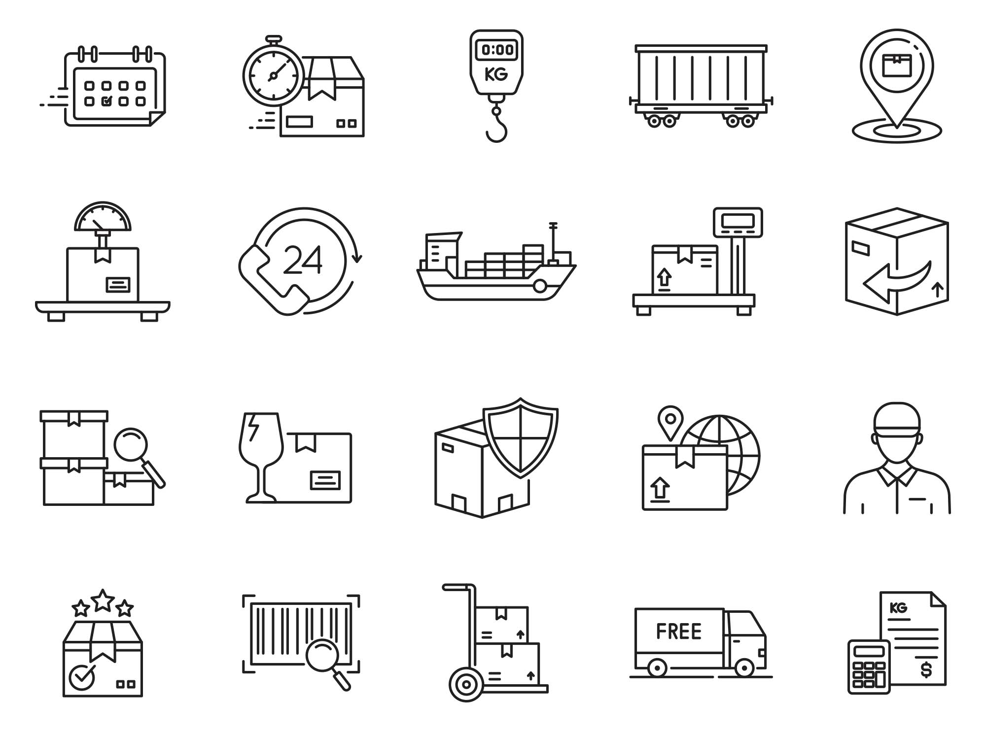 Logistic Vector Icons Part 04