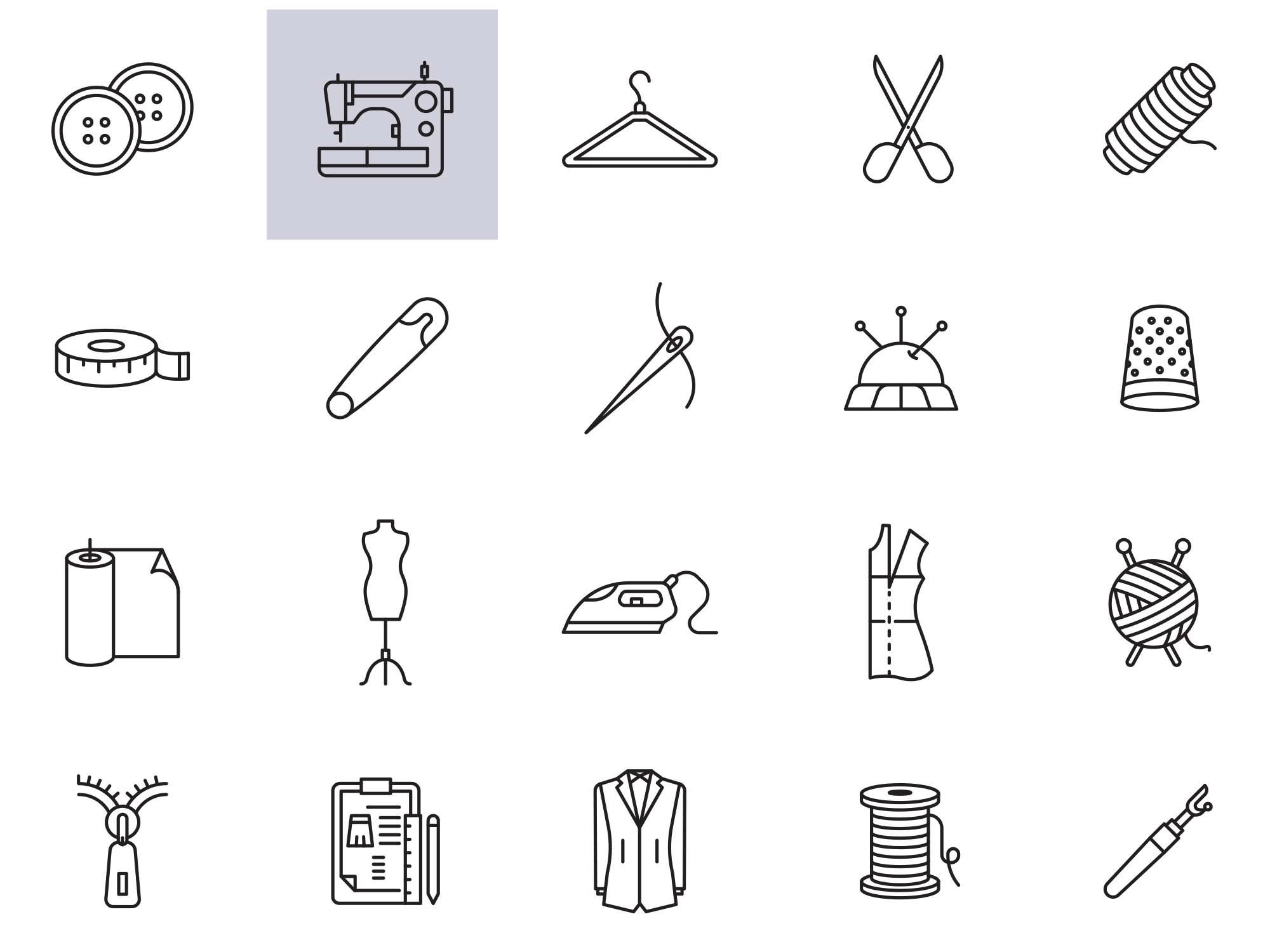 Seamstress Icons