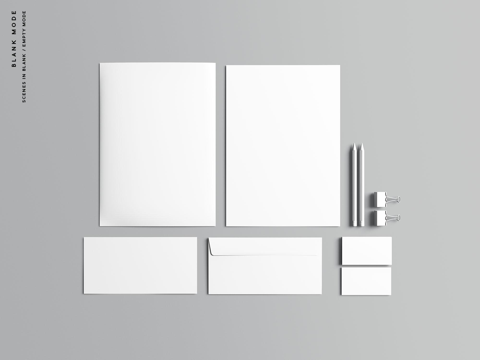 Stationery Branding Mockup Blank Mode