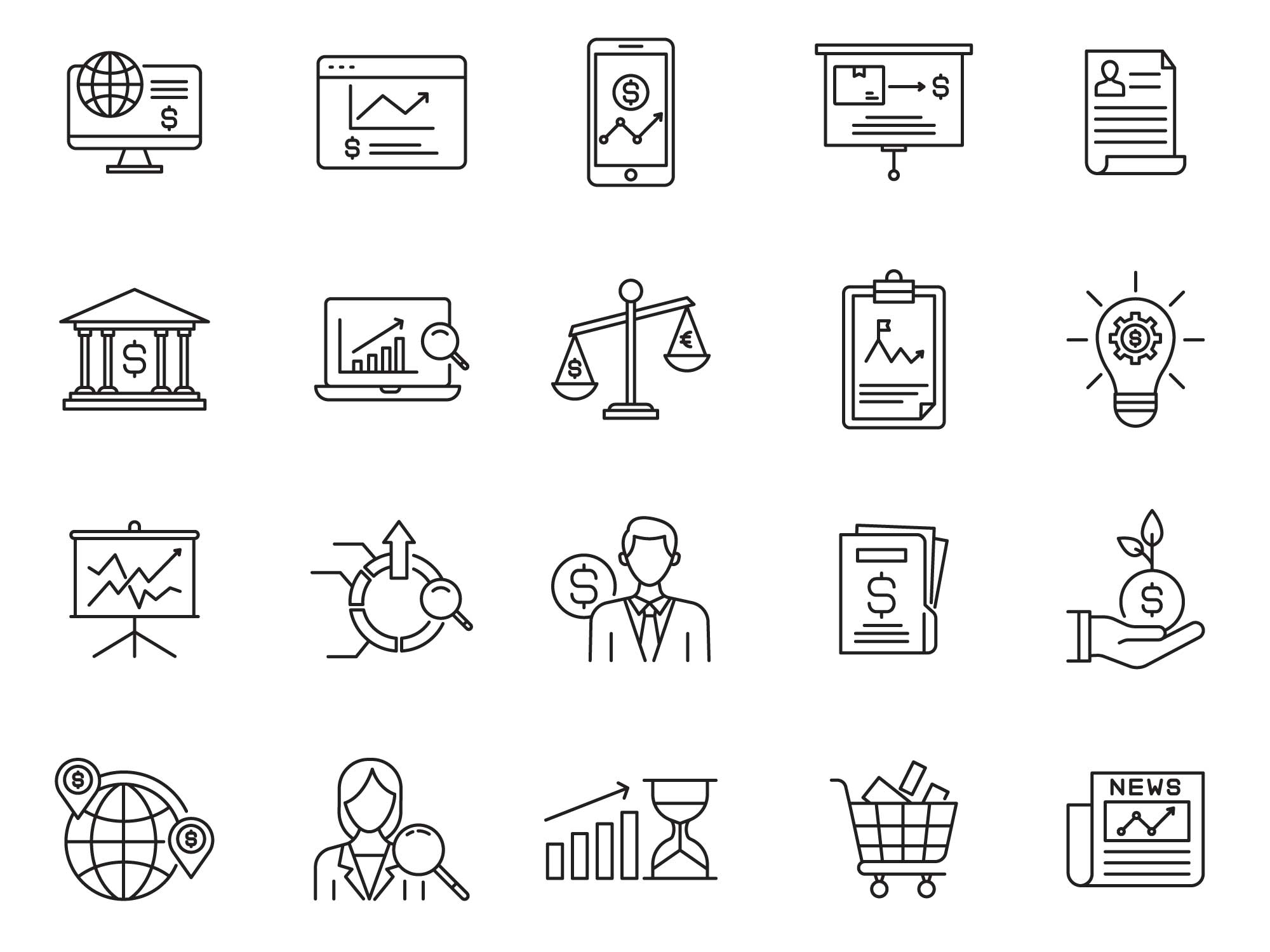 Trade Vector Icons Part 01