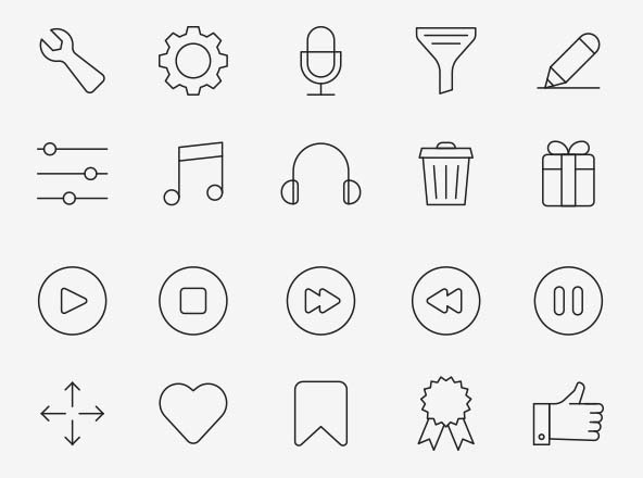 80 Interface Icons